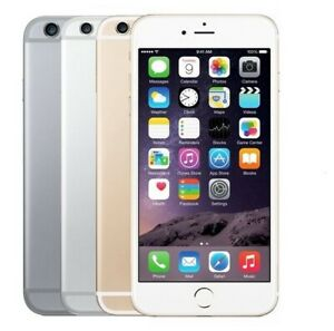 "Apple iPhone 6 16GB 64GB 128GB GSM""Factory Unlocked""Smartphone Gold Gray Silver*"