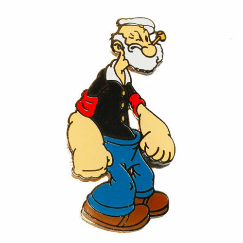 Poopdeck Pappy Popeye the Sailor Man Cartoon Hat Jacket Tie Tack Lapel Pin
