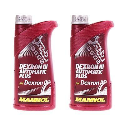 MANNOL Dexron III ATF Getriebeöl 2x1 Liter Öl Automatik Servoöl Automatic Plus