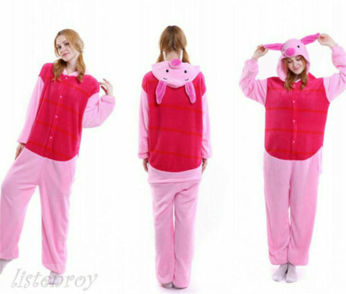 Men Women/'s Pajamas Tigger Piglet Eeyore Winne Nightgown Hooded Sleepwear