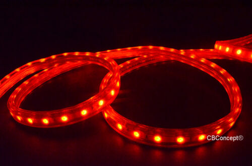 UL Listed,13 Feet,Super Bright 3600 Lumen 120V Flat LED Strip Rope-Color Option