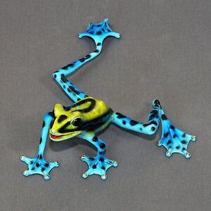Bronze-Frog-Figurine-Statue-Amphibian-Art-Sculpture-Wildlife-Frogs-Nature-Signed