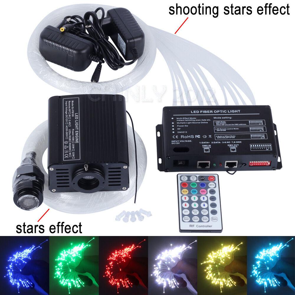 16 W RGBW DEL Fiber Optic Star Plafonnier Kit 150pcs0 .75 mm  2 m + étoiles filantes