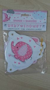 Elephant Baby Shower Banner pink - <span itemprop=availableAtOrFrom>London, United Kingdom</span> - Elephant Baby Shower Banner pink - London, United Kingdom