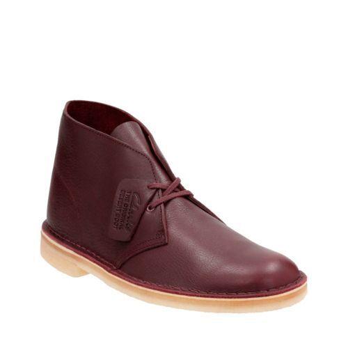 Clarks Originals Men's Desert Boot Burgundy Tumbled Leather 26125547