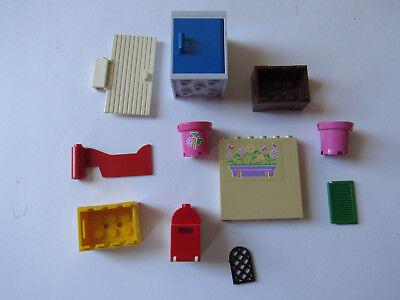 Mülltonne Eimer Tonne 92926 4740 NEUWARE 4 x Mülleimer mit Deckel grün LEGO