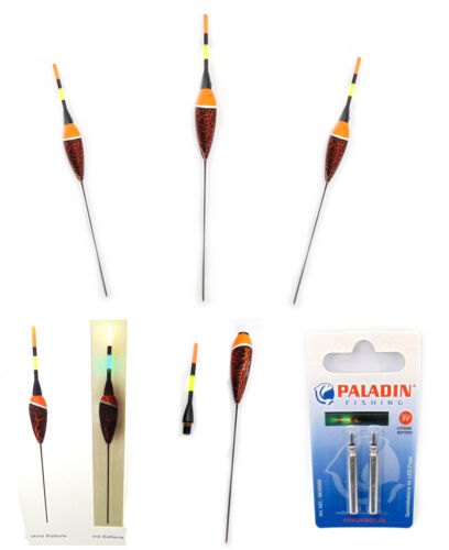 Profi Schwimmer Elektro Batterie Posen Nachtangeln LED Posen Paladin 2g bis 5g