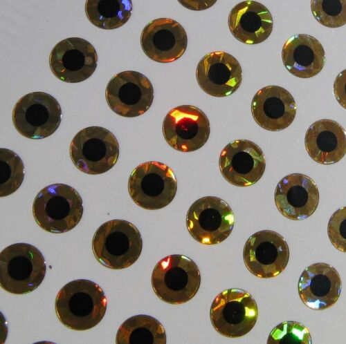 Gold Hologram 4mm Flat Eyes For Lures Spinners Tackle Craft Lot of 864 Eyes E1