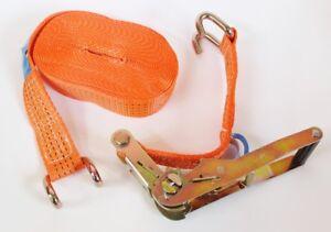 Yale-Sangle-D-039-Arrimage-Sangle-de-Serrage-2-Pieces-10m-4t-Orange-Cliquet