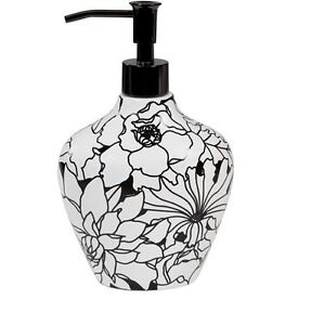 Creative Bath Products Lotion Pump, Black and White, Brand New