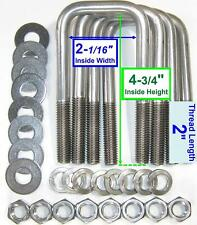 4 304 Stainless Steel Square U Bolts Boat Trailer 12 D X 2 116 W X 4 34 L