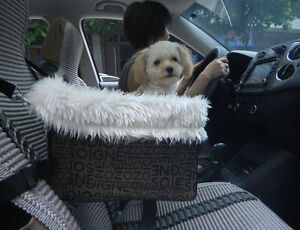 Lookout-Pet-Dog-Car-Seat-For-Car-W-Leash-Safety-Booster-Seat-Soft-Bed-Sheepskin