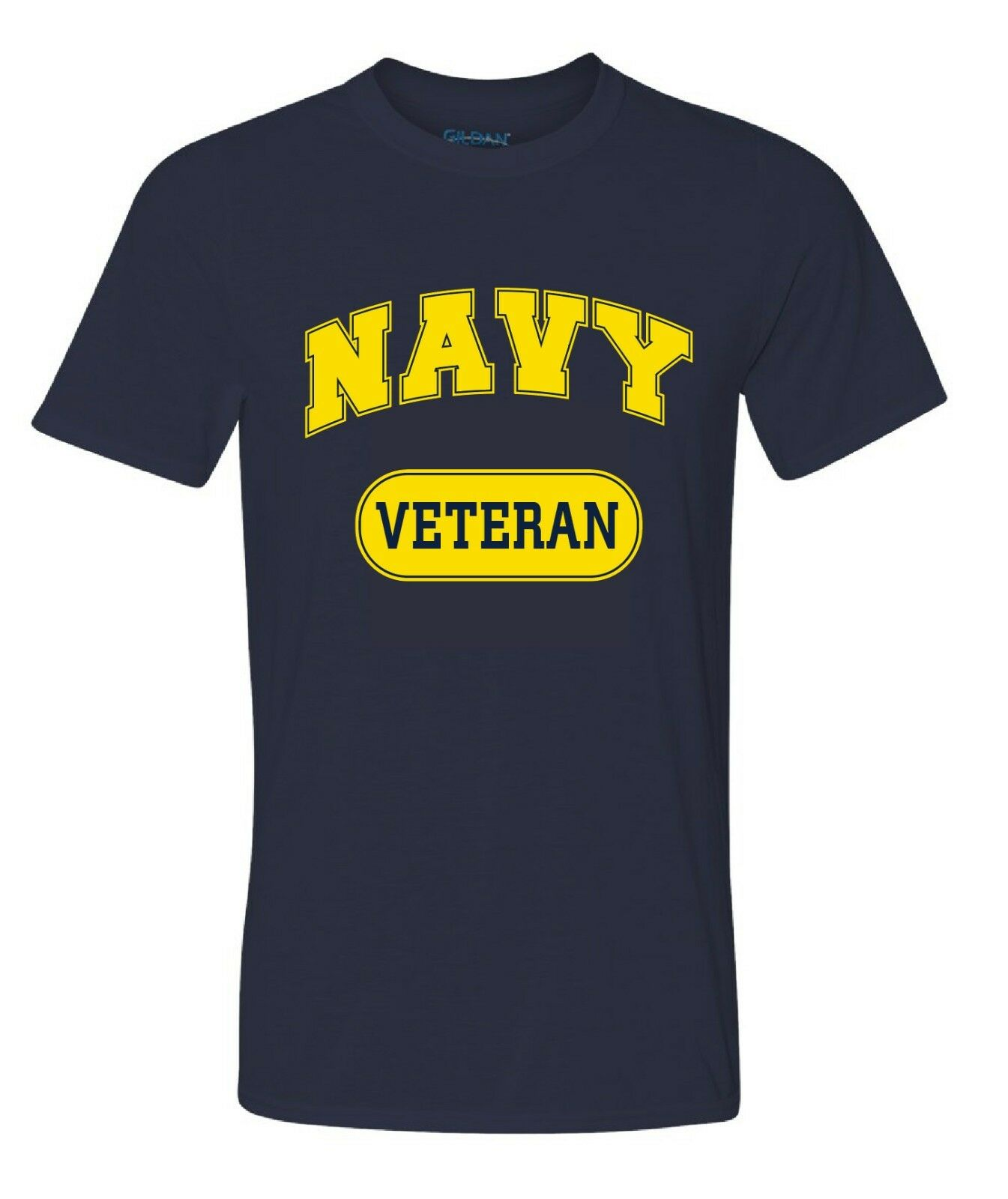 Military USN US Navy Veteran T-shirt Performance PT Work Out Fitness shirt bluee