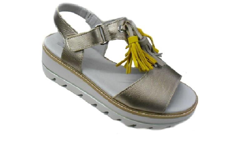 CALLAGHAN 22701 sandalo donna pelle laminata nappine fondo XL antiscivolo
