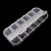 12 Grid Clear Transparent Retangle Storage Container Jewelry Beads Display Boxes