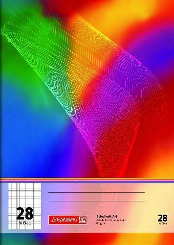 #4x BRUNNEN Schulheft A4 Lineatur 28-16 Blatt 80g//m²