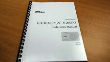 NIKON COOLPIX S2800 CAMERA PRINTED INSTRUCTION MANUAL USER GUIDE 208 PAGES A5