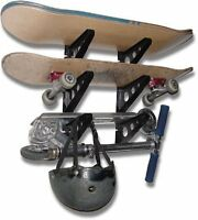Affordable & Lightweight Skateboard Rack Fits 3 Skateboards Skis & Snowboard