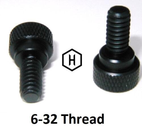 "50 Pieces Aluminum Black Anodized Finish 6-32 x  5//16/"" Knurled Thumb Screw"