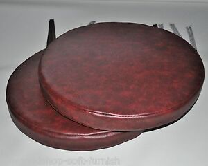 Image Is Loading 2 Oxblood Faux Leather Round Dining Garden Chair