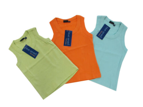 Blue SEVEN T-shirt top estate ragazza MINT, kiwi tg 128 NUOVO!!!