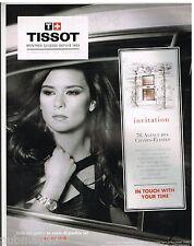 Publicité Advertising 2010 Les Montres Tissot avec Danica Patrick