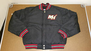 JH Design Miami Heat Boy's Toddler Baseball Jacket Black Size ...