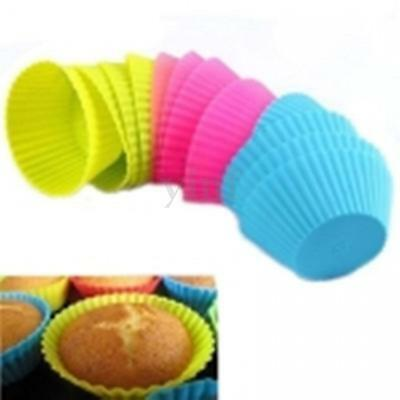 12pcs Silicone Round Cake Muffin Mold Chocolate Cupcake Case Baking Cup Mould