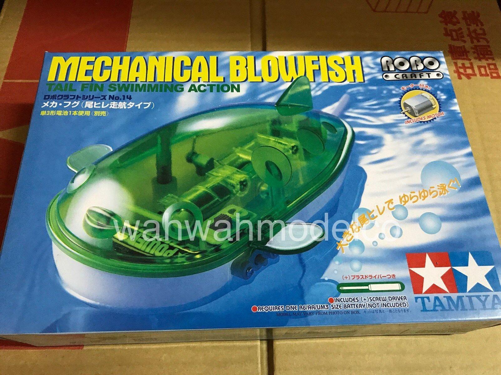 Tamiya 71114 Mechanical Blowfish Tail Fin Swimming Action Educational Model Kit