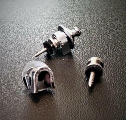 2 USA Fender Logod Stratocaster Schaller Strap Locks /& Knobs for Jazz Telecaster