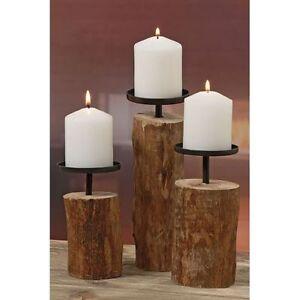 Holz-Kerzenleuchter-Tempe-3er-Set