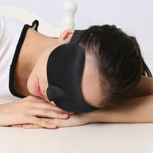 Schwarz-3D-Augenmaske-Schlafbrille-Schlafmaske-Augenbinde-fuer-Reise-EyeMask-X2Q2