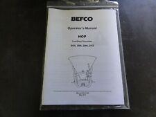 Befco Hop 203 206 209 212 Fertilizer Spreader Operators Manual 960 116b