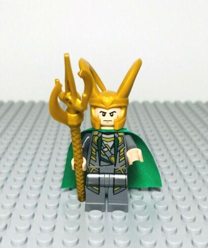 Lego Avengers Marvel Super Heroes Loki Minifigure w// Weapon 6868 6867 6869