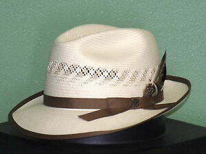 94898c9d7b7eb Image is loading BILTMORE-VICEROY-VENTED-SHANTUNG-STRAW-FEDORA-HAT