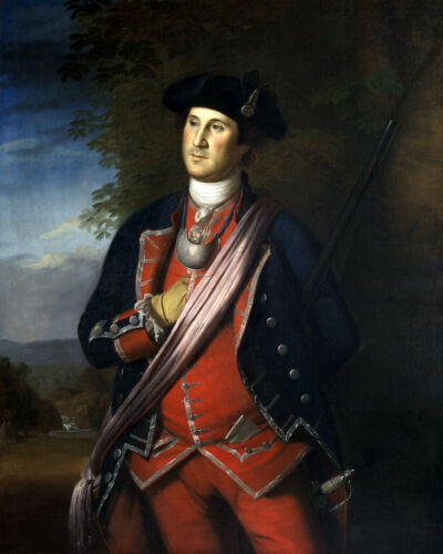 General George Washington US Military Painting 1776 8x10 Real Canvas Art Print