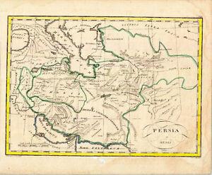 B098-Persia-colorierte-antike-Landkarte-C-P-S-C-R-A-M-ca-44x36-cmxcm