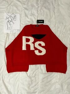 Raf Simons Sweater Red size (LARGE) BRAND NEW (read description)