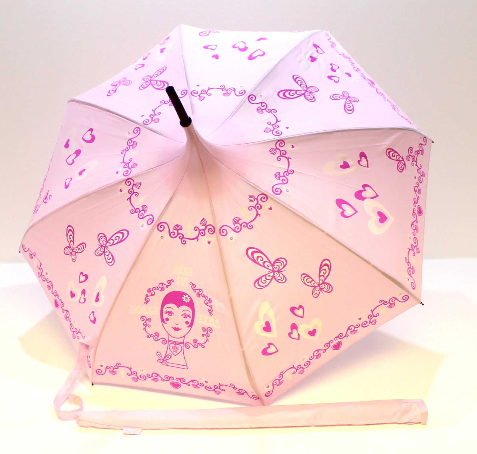 Anna Sui Parfums Dolly Girl Pink Pagoda Shaped Umbrella With Cover ...