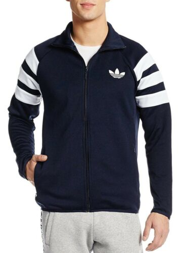 Adidas Navy Mens Zip Originals Tracksuit Retro Jacket Track Top Vintage New 5xxOw4