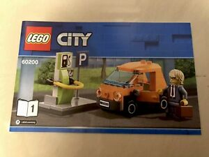 LEGO-Electric-Car-amp-charging-station-Mini-Figure-Book-1-From-60200-Capital-City