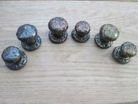 BLACK ANTIQUE CAST IRON CUPBOARD CABINET DRAWER KITCHEN DOOR KNOBS PULL HANDLES
