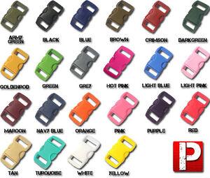 "3/8"" Side Release Buckles for 550 Paracord Survival Bracelet 10 20 50 100 Packs"
