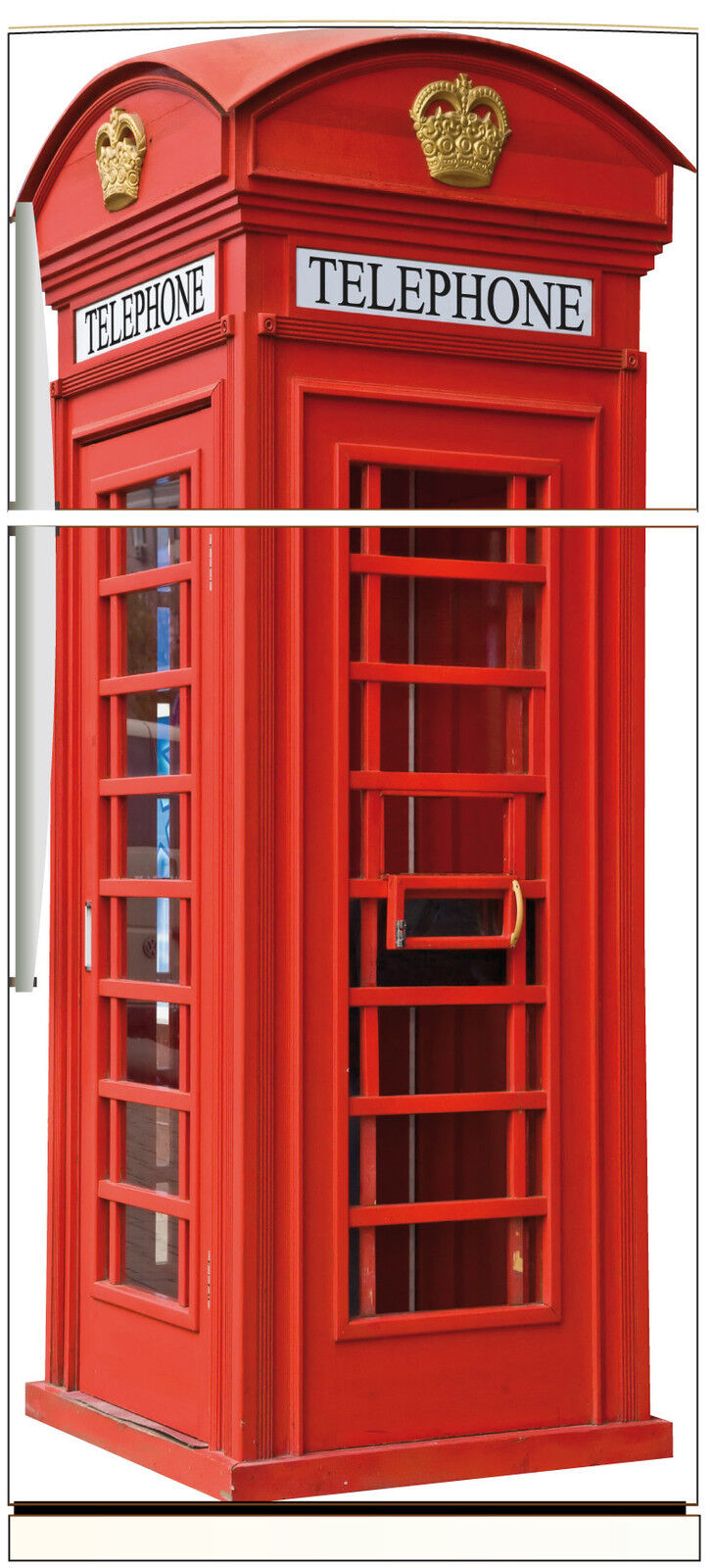 Adesivo Frigo Elettrodomestici Decocrazione Cabina Telefonica Inglese 70x170cm