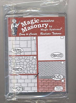 "/""Magic Masonry/"" Red Brick Kit dollhouse miniature SW502R 1//12 scale  4.5 sqft"