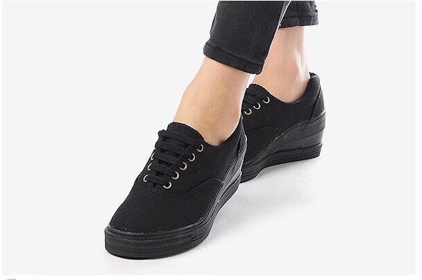 MAX Ladies Women Wedges shoes Sneakers Heels Casual Platforms Walking Lace up