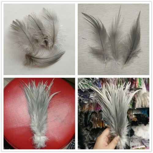 Wholesale 10-100pcs Gray Heron Silk Feathers 2-10 inches//5-25 cm DIY Decoration