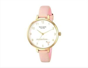 Kate-Spade-Metro-Leather-Cocktail-Watch-Pink-Blush-Gold-Tone-KSW1524-NEW-195