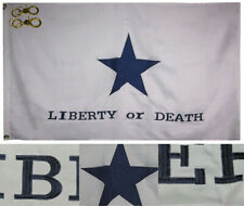 3x5 Embroidered Texas Troutmans Liberty or Death 600D Nylon Flag Banner 3 Clips