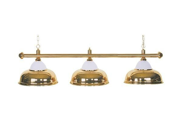 Billiards Billiard Lamp Lamp Light Crown 3 Burner Brass Ø 38
